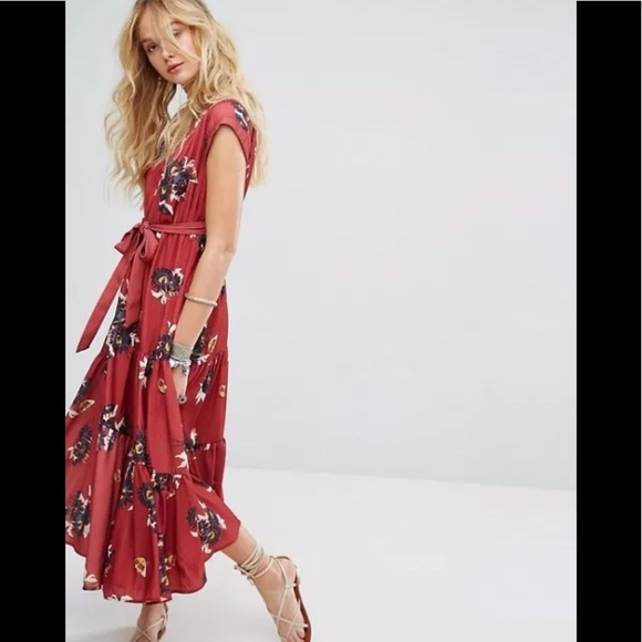 12c83c066c4 NWT Free People All I Got Printed Maxi Dress Sz 2